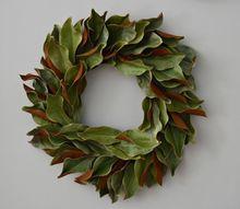 diy 15 dried magnolia wreath