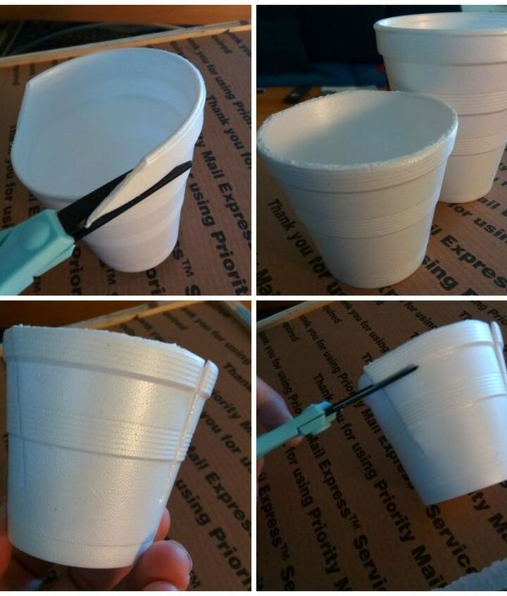 Trim the cups