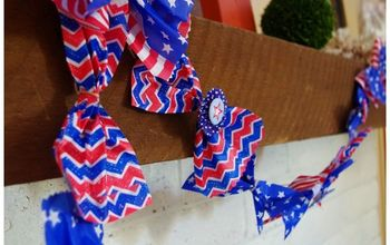 Red White and Blue Paper Treat Bag Garland