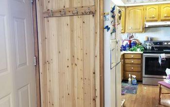 cedar plank recessed coat closet
