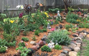 tiered flower garden makeover, After Tiered Flower Garden Makeover