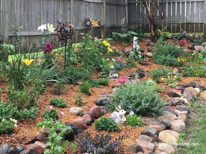 tiered flower garden makeover, After Tiered Flower Garden Makeover