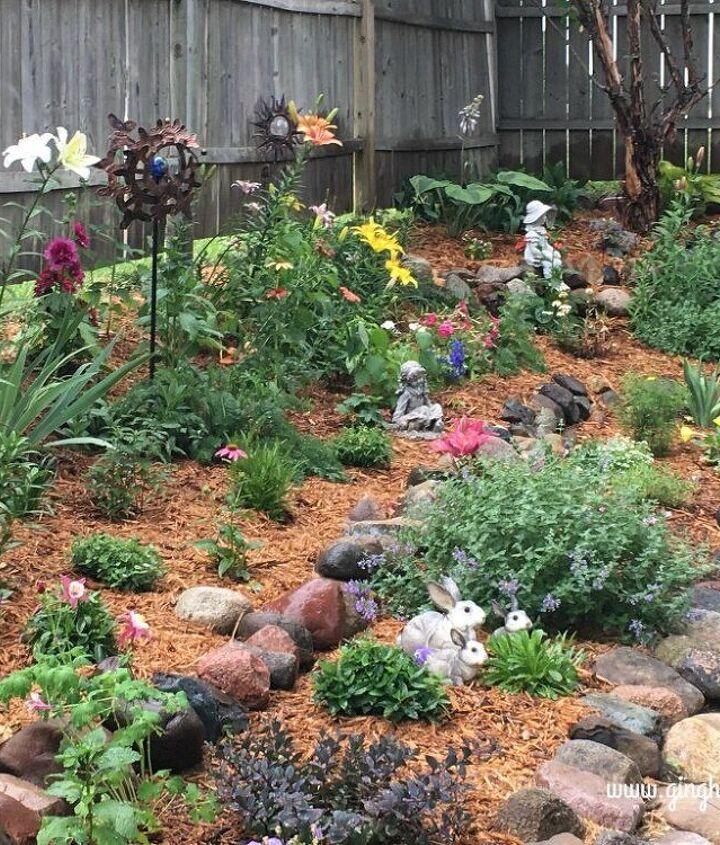 After - Tiered Flower Garden Makeover