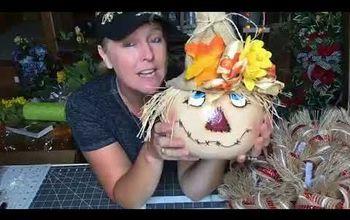 deco mesh scarecrow wreath