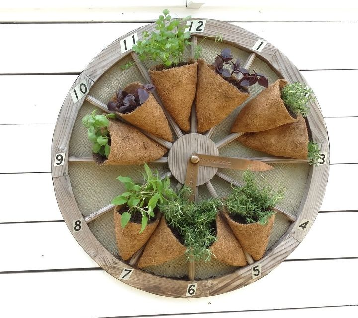 s 16 ways to showcase your herb garden, Wheel of Herbs