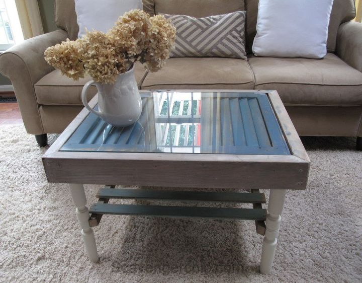 s these coffee table ideas will inspire you to make your own, Shutter and Slats Coffee Table