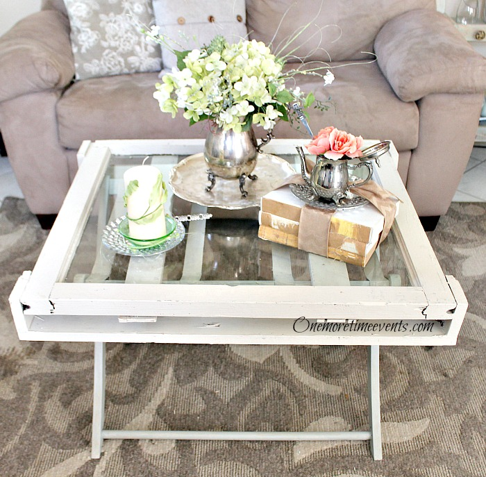 s these coffee table ideas will inspire you to make your own, Rustic Vintage Window Coffee Table