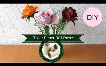 How to Make a Rose From a Cardboard Tube | Recycled Toilet Paper Roll