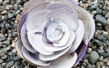 beach art seashell flowers