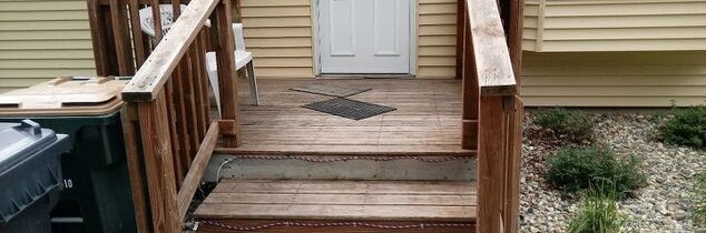 q how do i build a covered entry over a 6x6 deck style front step