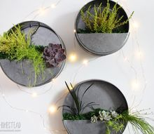 diy faux galvanized wall planter