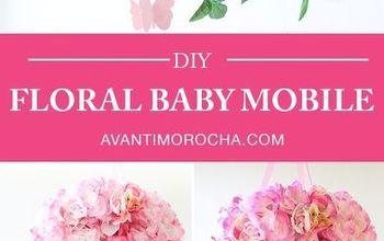 DIY Floral Baby Mobile  - Dollar Tree