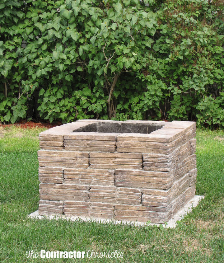 s 15 fabulous fire pits for your backyard, Squared with bricks