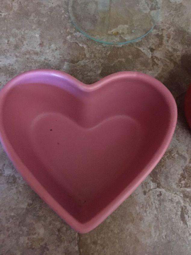 q i have 4 heart shaped thick ceramic bowls diy bird bath