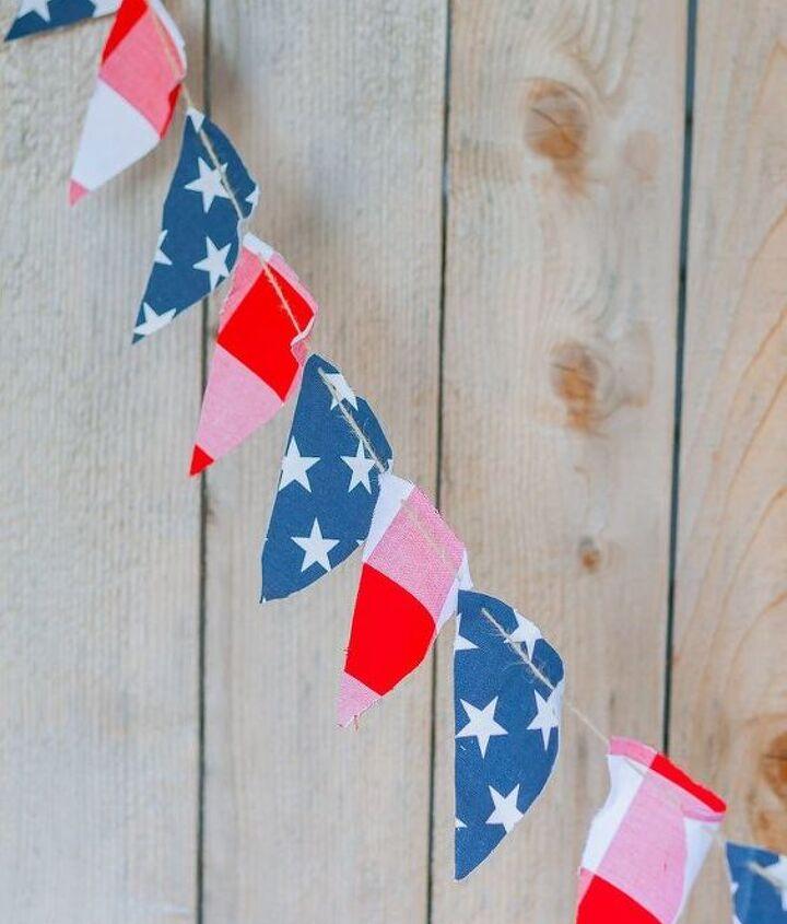 diy july 4th patriotic banner