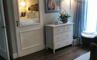 pretty sliding barn door it slides behind a dresser