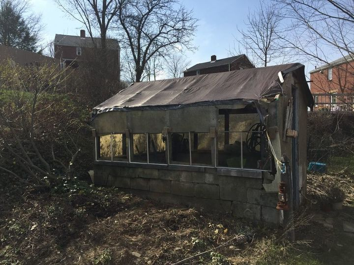 q how can i rebuild a shed greenhouse with repurposed and pallet wood