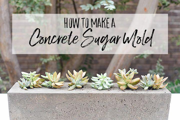 how to make a concrete sugar mold