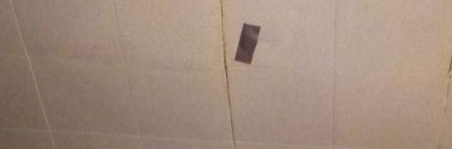 q how do you fix a old ceiling leak with lockable tiles