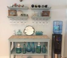 diy upcycling old furniture turned bar area