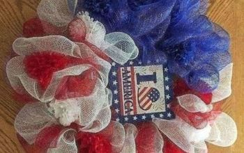 Dollar Store July 4th Wreath Makes Your Doorway Inviting-for Dollars!