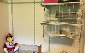 How do I turn my closet into an office?