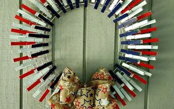 Patriotic Clothes Pin Wreath