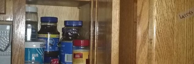 q help for small cabinet diy spices and instant coffee jars clutter