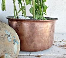 how i gave a new purpose to my vintage copper pots