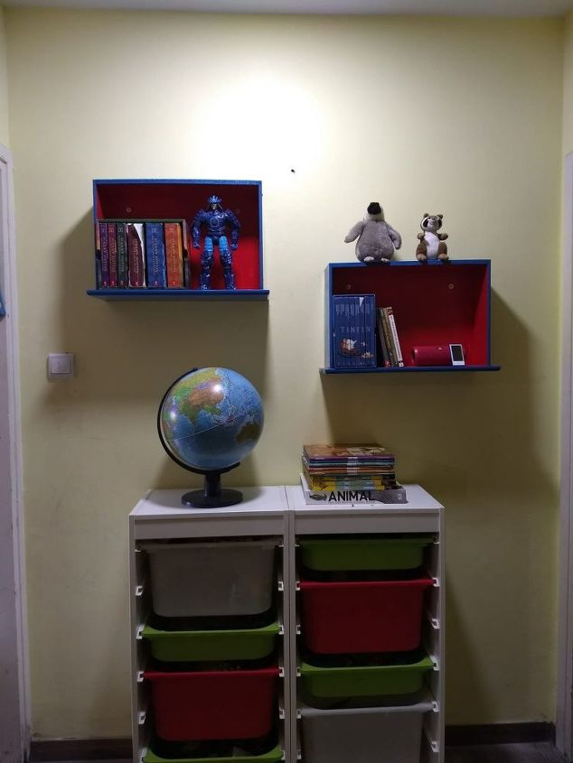 s 16 floating shelves that will stun guests, Upcycled Old Dresser Drawers