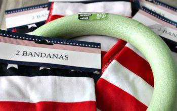 make a fun fourth of july dollar store bandana wreath for 6