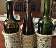 diy wine bottle tiki torches and solar lights