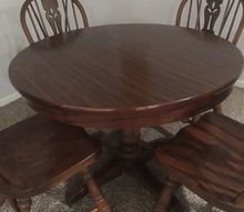 q shabby chic finish on solid wood pedestal round table