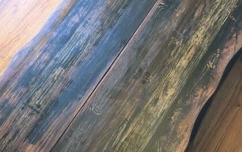 Coffee Table Fix With Faux Wood Grain