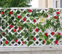 how i up cycled lattice for a colorful fence with added privacy