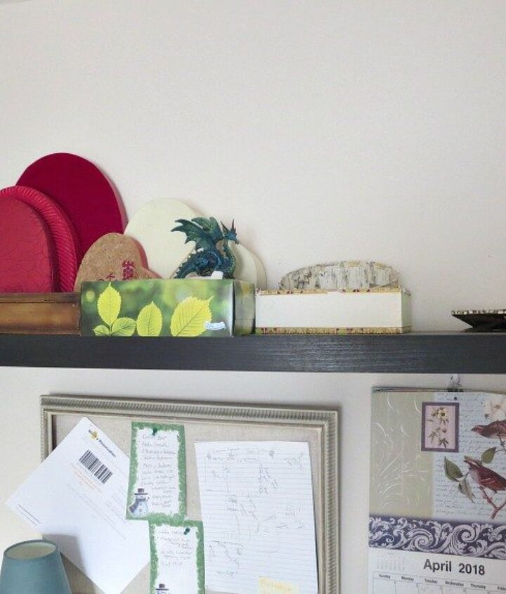 how i revitalized a dark shelf with mod podge