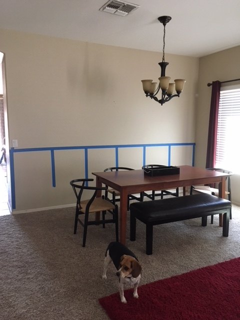 q should i paint the wall behind the boards or leave it the wall color