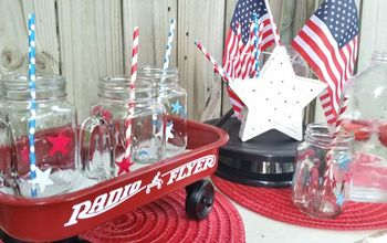Patriotic Glassware With Oil Based Markers
