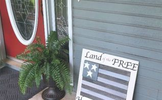 diy american flag with tile scraps