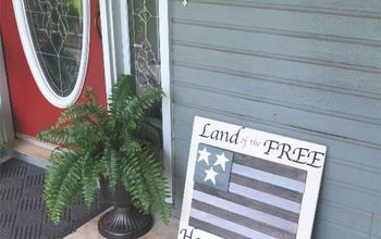 DIY American Flag - With Tile Scraps
