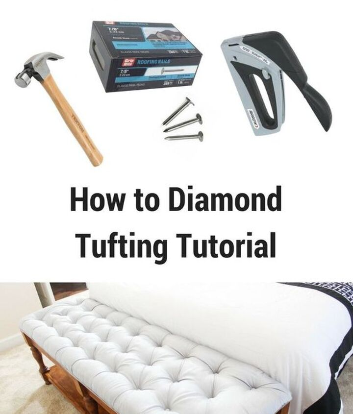 how to make a tufted anything without sewing