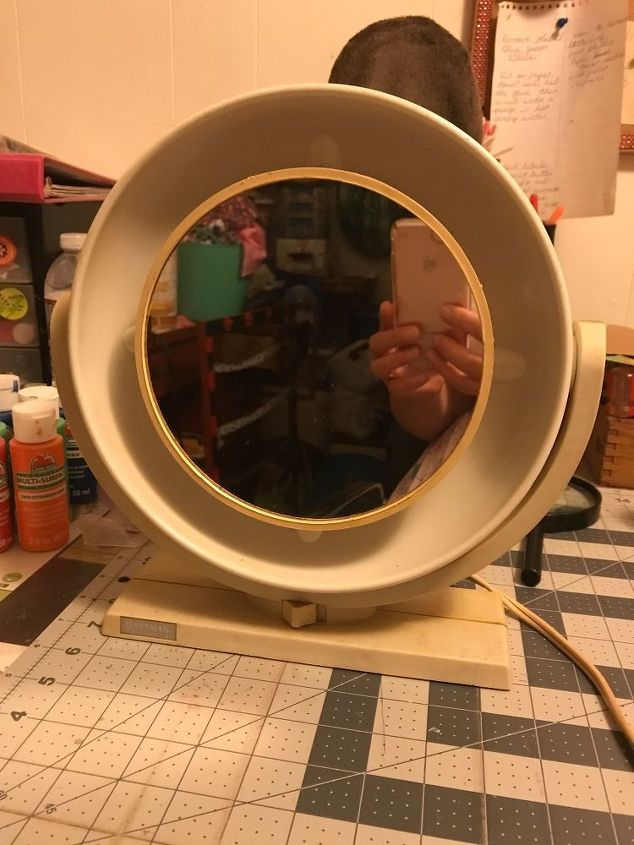 q how can i bring new life to an old make up mirror that still works