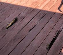 q wood deck rotting