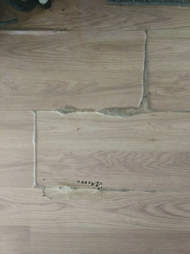 How Can I Fix This Floor Laminate And Was Under A Rug That Got Wet