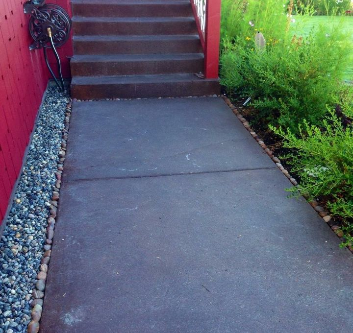 creating a stone mosaic front garden path, It served its purpose but time to go