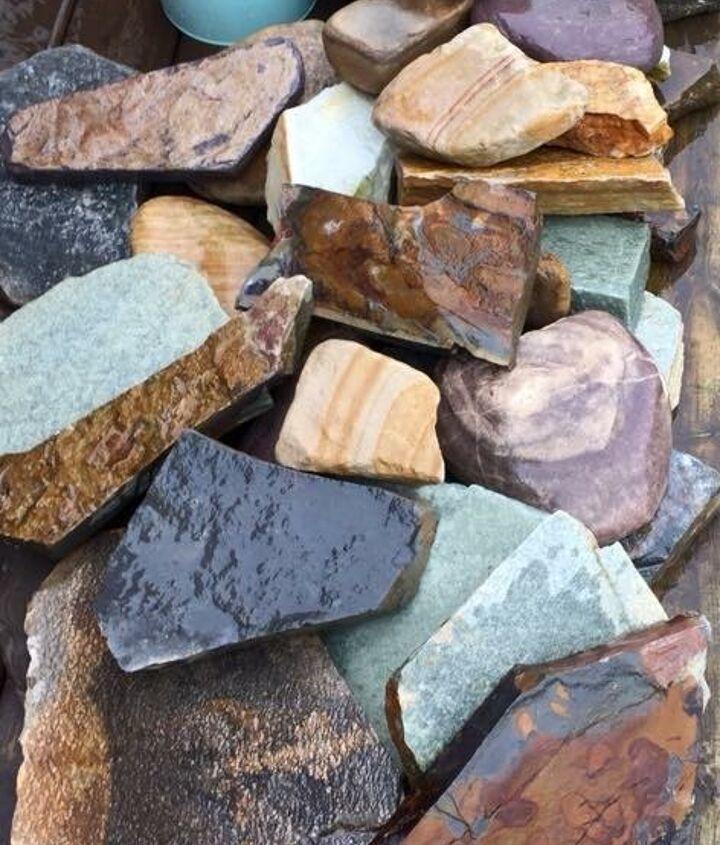 A rainbow of stones!