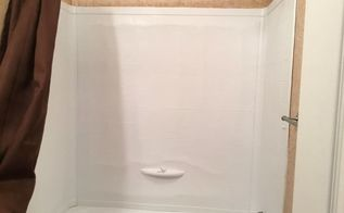 q molded shower surround in mobile home