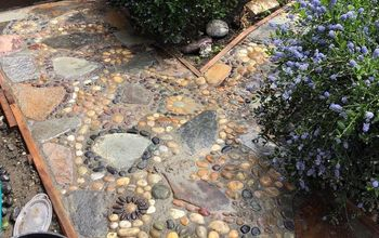 Creating a Stone Mosaic Front Garden Path