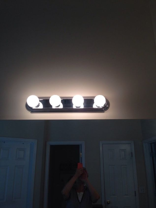 q can i update bath light fixture without removing it