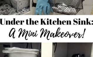organize under the kitchen sink on a budget with dollar tree